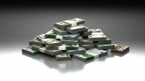 Stack of Money - stock footage