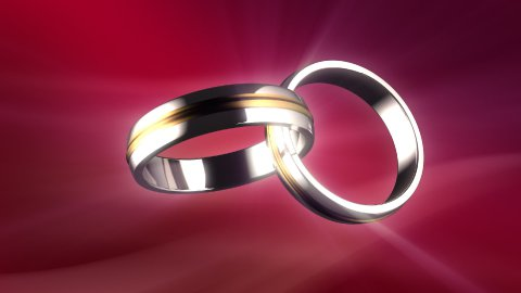 Connected rings - stock footage