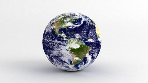 Earth on White - stock footage