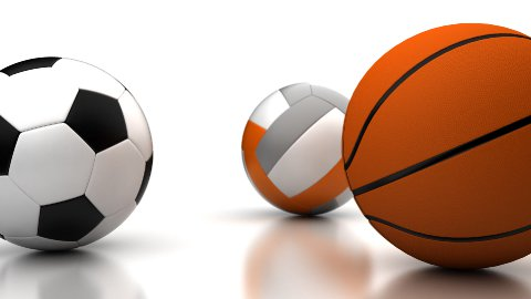 Football, Basketball and Volleyball - stock footage