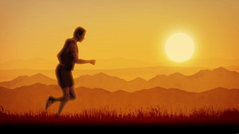 Morning Run animation (Loop) - stock footage