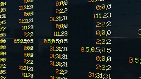 Stock Market Board, chaos quotations - stock footage