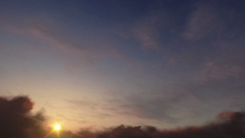 Sunset Time Lapse Clouds - stock footage