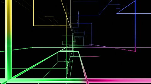 High tech colorful grid growing fly through, network concept - stock footage