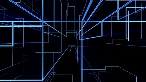 High tech grid growing and rotating, network concept - stock footage