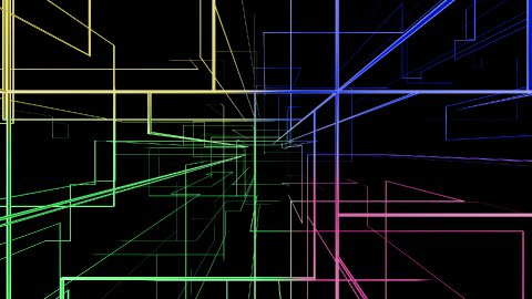 High tech colorful grid growing, network concept - stock footage