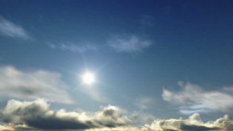 Above Time Lapse Clouds at Sunset - stock footage