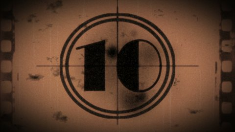 Grunge countdown from ten - stock footage