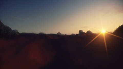 Mountain Peaks above Sunset Time Lapse Clouds - stock footage