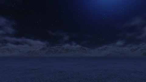 Snowy Mountains at Night, Time Lapse Clouds - stock footage