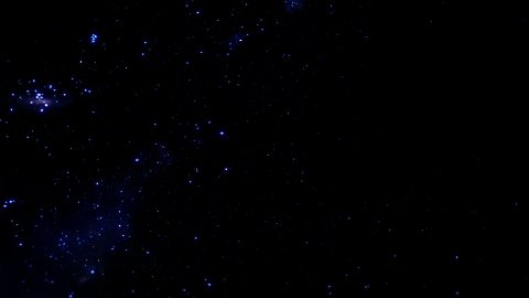 Starfield with falling star, time lapse - stock footage