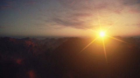 Sunset Timelapse Clouds - stock footage