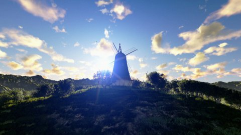 Wind Mill, timelapse sunrise to afternoon - stock footage