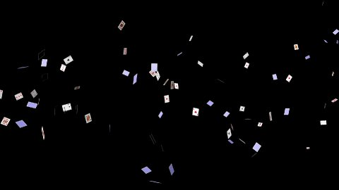 Playing Cards Flying - stock footage