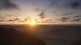 Time Lapse Sunrise over Mountains Peaks - motion graphic