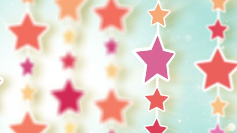 montage of dangling colorful stars - stock footage