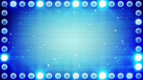 frame of blue lighting bulbs loop - stock footage