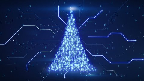 binary christmas tree shape loop since 10.00 - stock footage