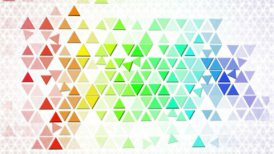 colorful triangles geometric background loop - motion graphic