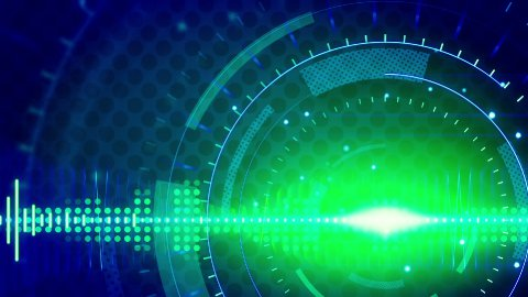 sine waves green blue technology loop background - stock footage