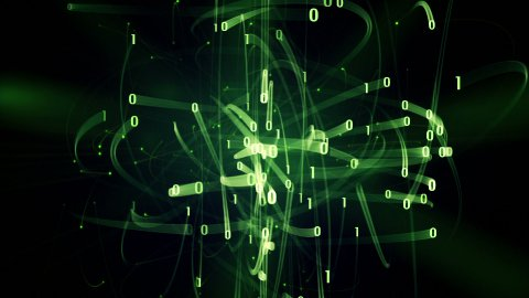 green binary digits rush loop - stock footage