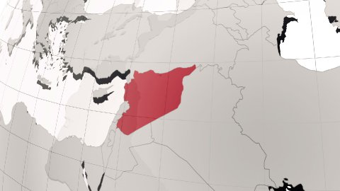 Syria map - stock footage