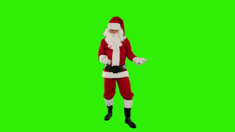 Santa Claus Dancing isolated, Dance 2, Green Screen - stock footage
