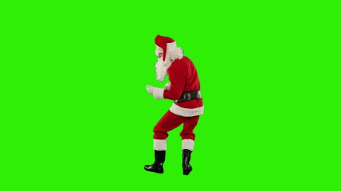 Santa Claus Dancing isolated, Dance 6, Green Screen - stock footage