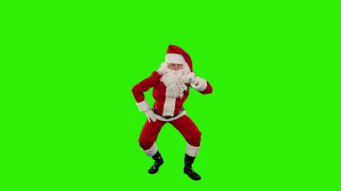 Santa Claus Dancing isolated, Dance 5, Green Screen - stock footage