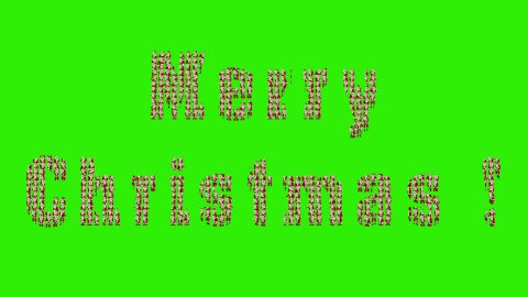 Santa Claus Crowd Dancing, Christmas Party Merry Christmas Shape, Green Screen - stock footage