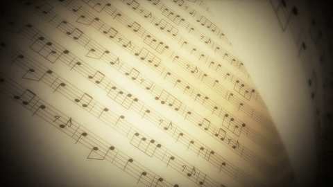 Music book 01 - stock footage