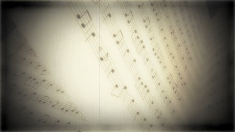 8mm music book 01 - stock footage