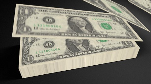 Dollar bills count 01 - stock footage