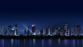 The night scenery of the city_059