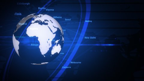 The blue earth_050 - stock footage