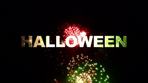Halloween fireworks 02 - stock footage