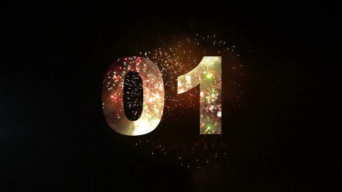 Fireworks countdown 01 - stock footage