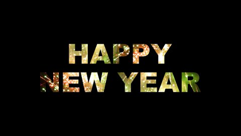Happy New Year Fireworks 01 - stock footage