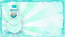 dancing snowman with luma matte loop
