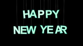 happy new year celebration with luma matte