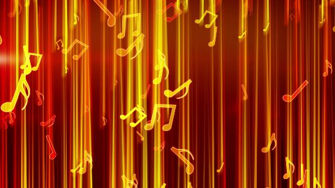 shiny notes falling loop  - stock footage