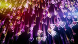 falling hearts romantic loop background