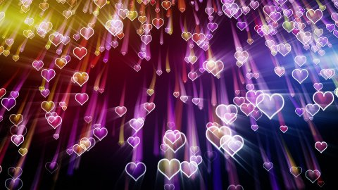 falling hearts romantic loop background  - stock footage