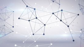 technology network loop background