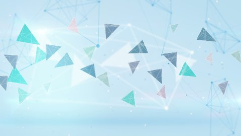 technology blue network loopable background  - stock footage