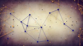 grungy technology network loop background  - motion graphic