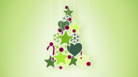 red green christmas tree decoration loop alpha