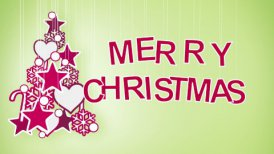 merry christmas greeting loop