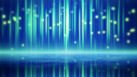 blue squares and lines with reflections loop - stock footage