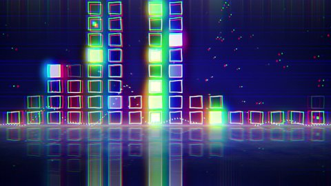 sound level meter equalizer with reflection loop  - stock footage